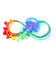 Infinity with rainbow jellyfish vector