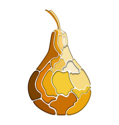 isolated abstract pear in color on white vector image