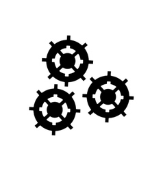 Isolated gears machine part design vector