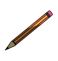 isolated study pencil vector image
