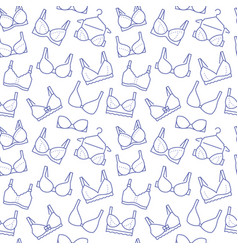 lingerie seamless pattern with flat line icons of vector image