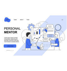 Male character is working as a mentor for business vector