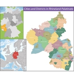 Map of Rhineland-Palatinate vector image