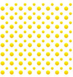 Mimosa fluffy bud yellow flower seamless pattern vector