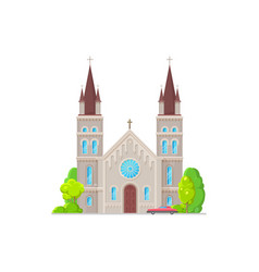 monastery christian religion building isolated vector image