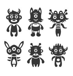 monster aliens set vector image