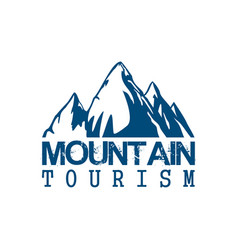 Mountain tourism sport icon vector