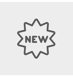 New tag thin line icon vector image