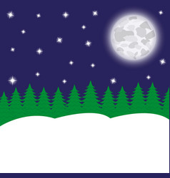 night fairy forest and moon vector image