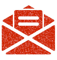 Open mail grunge icon vector