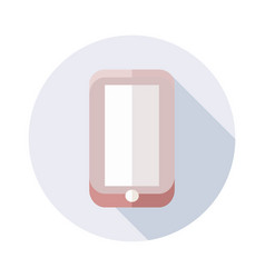 phone icon with long shadow for web design vector image