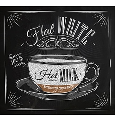 Poster flat white chalk vector