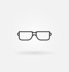 Reading glasses icon - eyeglasses line sign vector