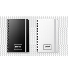 realistic notebook mock up for your image vector image