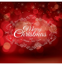 Red Christmas greeting card design vector image vector image