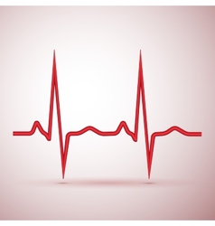 red pulse isolated vector image