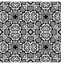 retro floral tile vector image