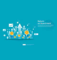 Return on investment roi profit opportunity vector