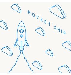 Rocket launch icon eps 10 vector image