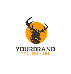 Round deer logo vector