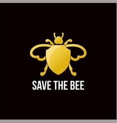 Save bee logo vector