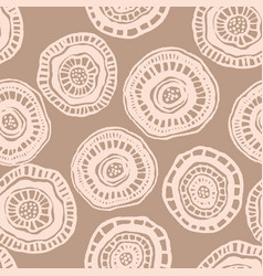 seamless pattern with beige aborigine vector image
