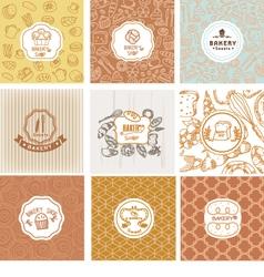 set bakery logo vector image
