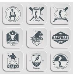 Set vintage baseball labels and badges vector