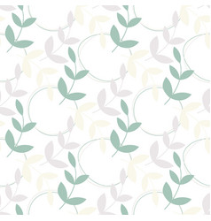 simple leaves seamless pattern vector image