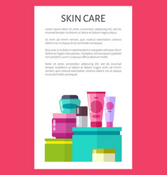 skin care poster with text vector image