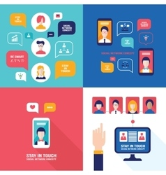Social Network Technology Banner set User vector