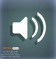 Speaker volume Sound icon symbol on the blue-green vector image