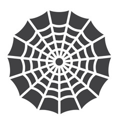 spider web glyph icon halloween and scary vector image