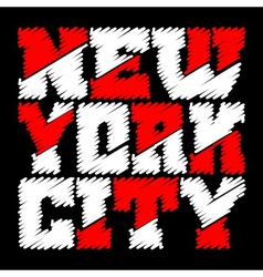 T shirt typography graphics New York vector image
