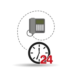 Telephone call center 24 hours vector