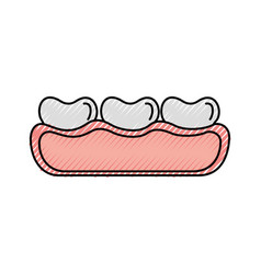 tooth care isolated icon vector image