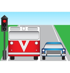 Traffic lights and machines vector