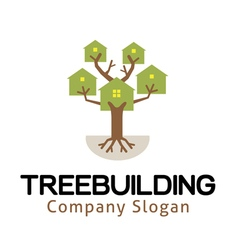 Tree Building Design vector image