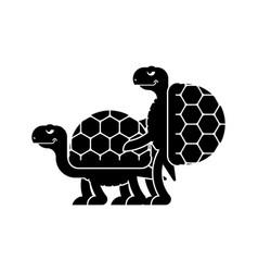 Turtle sex tortoise intercourse reptile isolated vector