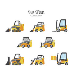 Variety construction vehicles set vector