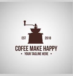 vintage coffee shop logo vector image