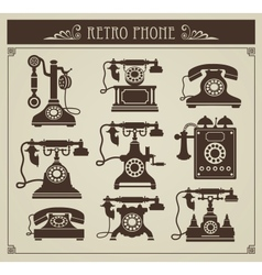 Vintage phones vector