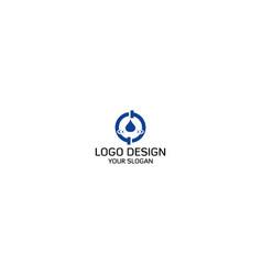 waterdrop plumbing logo design vector image