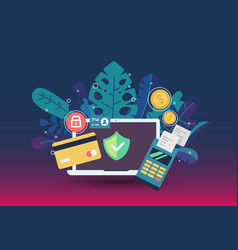 web payment icon in flat style the internet store vector image