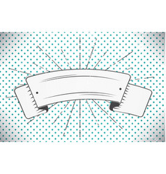 white ribbon in the form of a banner with a your vector image