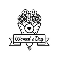 World Womens day greeting emblem vector