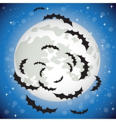 Bats flying in the night sky vector image