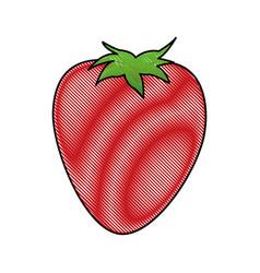 cartoon strawberry ingredient fruit icon vector image