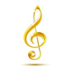 Gold treble clef vector image