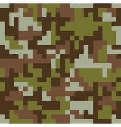 Pixel camo seamless pattern Brown forest vector image